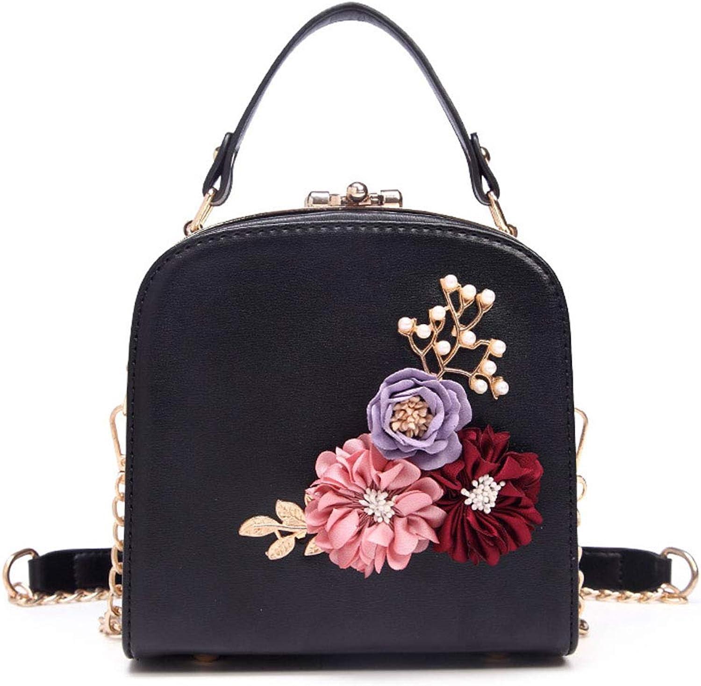 JESSIEKERVIN YY3 Freizeit Wild Flower Griff Schulter Messenger Messenger Messenger Bag (Farbe   schwarz) B07PBZKVJK  Hohe Qualität und Wirtschaftlichkeit a3f9e5