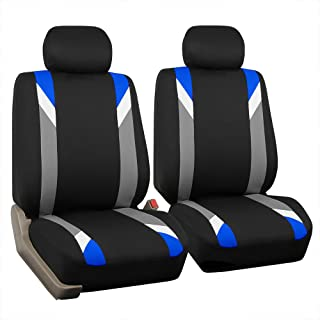 FH Group FB033BLUE102 Bucket Seat Cover (Modernistic Airbag Compatible (Set of 2) Blue)
