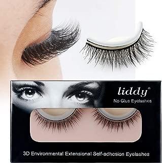 LIDDY 3D Lashes Self-adhesive False Eyelashes Makeup Reusable Natural Hand Made Fake Eyelashes– Natural Fashion Eye Lash Extensions for Fashion &Makeup (3D-08)