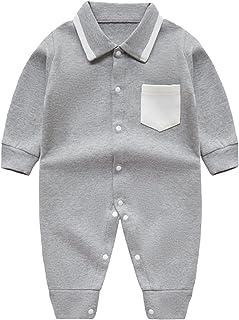 طفل انسان محترم أولاد رومبير مع جيب مولود جديد كم طويل لعبة البولو الرقبة حللا (Color : Gray, Size : 73CM)