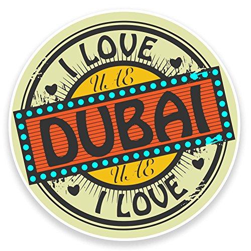 2 pegatinas de vinilo de Dubai de EAU de 10 cm de ancho, para tablet, ordenador portátil, coche, equipaje de viaje, número 9227 (10 cm de ancho x 10 cm de alto)