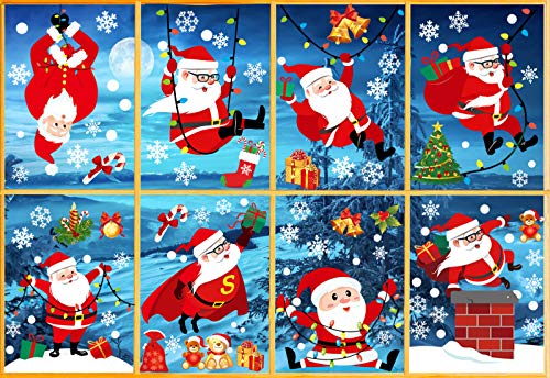 Fensterbilder Weihnachten Tatisch, Weihnachten Deko Fenster, Weihnachtssticker Fenster, Fensterfolie Weihnachten, Window Stickers Winter Decoration