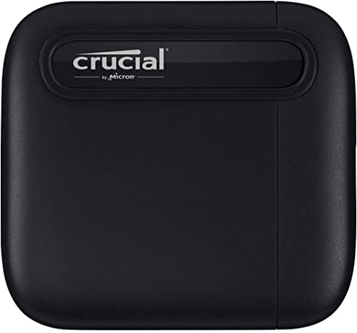 Crucial X6 1TB Portable SSD – Up to 540MB/s – USB 3.2 – External Solid State Drive USB-C - CT1000X6SSD9