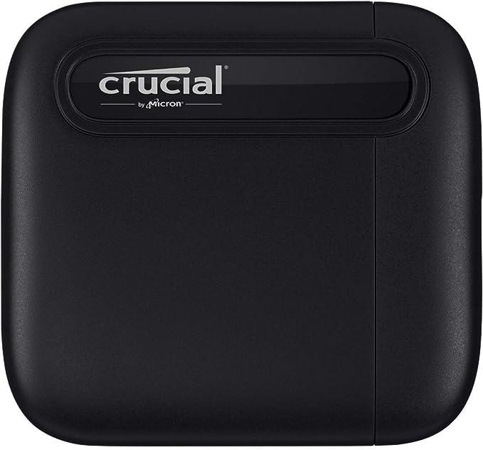 Crucial CT1000X6SSD9 X6 1 TB SSD portátil, de hasta 540 MB/s, USB 3.2, Unidad de estado sólido externa, USB-C