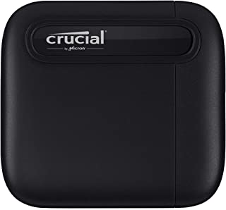 Crucial X6 4TB Portable SSD – Up to 800MB/s – USB 3.2 – External Solid State Drive, USB-C - CT4000X6SSD9