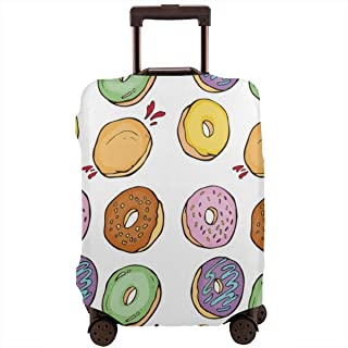 3D Chevron Zigzagr Pattern Print Luggage Protector Travel Luggage Cover Trolley Case Protective Cover Fits 18-32 Inch