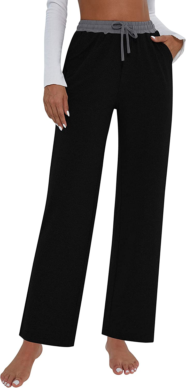 TQD Womens Yoga Sweatpants Wide Leg online shopping D Pants Pajamas Comfy Lounge New item