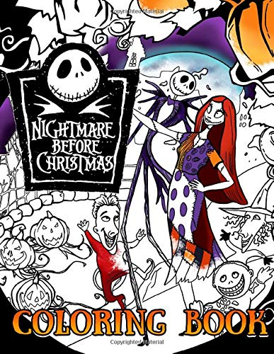 Nightmare Before Christmas coloring book: Favorite Animation Character Coloring Book For Adults Kids Relaxation Gift