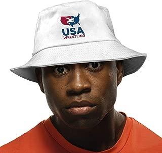 Unisex Cute USA Wrestling Bucket Hat Summer Fisherman Cap