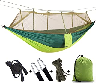Apsung Camping Hammock Mosquito Net with Rain Fly Tent Tarp for Outdoor Windproof, Anti-Mosquito, Swing Sleeping Hammock Bed