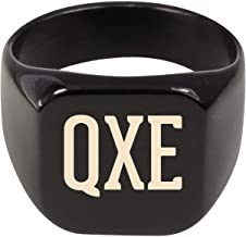 Molandra Products QXE - Adult Initials Stainless Steel Ring