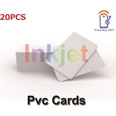 20 X Cartes D'identification Imprimables par Jet d'encre de PVC, Compatible avec Les Imprimantes à Jet d'encre D'Epson Et De Canon, Matériel Imperméable épais De CR80 30 MIL - TimesKey