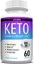 Keto Pills from Shark Tank - Weight Loss Supplements to Burn Fat Fast - Boost Energy and Metabolism - Best Ketosis Supplement for Women and Men - Nature Driven - 60 Capsules