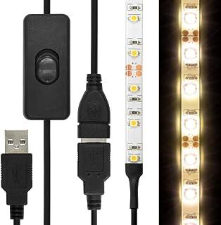 [ON/OFFスイッチUSB延長ケーブル付] LEDテープライト 貼レルヤ USB (電球色 3000K) 2m 120灯・両面テープで好きな場所に貼り付け可能・ハサミでカットして長さを変えられます【JTTオンラインオリジナル商品】