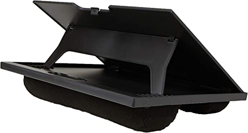 Mind Reader LTADJUST-BLK Adjustable Portable 8 Position Lap Top Desk with Built in Cushions, Black