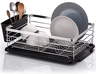 Premium Large Capacity Dish Storage Rack, Sink Dish Drainer Dinnerware Organizer with Drain Board (Not Include Wine Cup Rack)