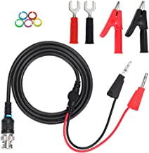 Sumnacon BNC Male Connector to Dual Stackable Banana Plug + Alligator Clip + Spade Copper Fork Plug Test Lead For Oscilloscopes Signal Generators, 300 V 50 Ohm BNC Test Cable With Marker Ring