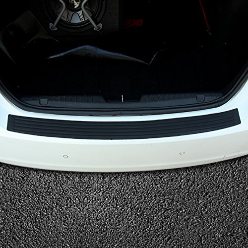 Auto Ladekantenschutz Heckstoßstangenschutz Aufkleber, Anti-Kratz Gummi Lackschutzfolie Universal Flexible Gummi Einstiegsleisten verhindern Kratzer beim Entladen und Laden (90cm)