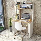 Yurupa Schreibtisch Computertisch Arbeitstisch Bürotisch Eiche-Weiß BR2-AW