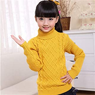 Children's Sweater Autumn Winter Kids Knitted Turtleneck Pullover Sweater For Boys Girls-Skin_Red-2_5