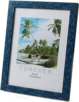 4 x 6 Maxxi Designs Photo Frame with Easel Back Blue Havana 8368B-46
