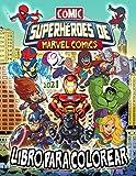 Superhéroes de Marvel Libro Para Colorear: Superhéroes de Marvel 2021 Comics: Ilustraciones No Oficiales De Super Action
