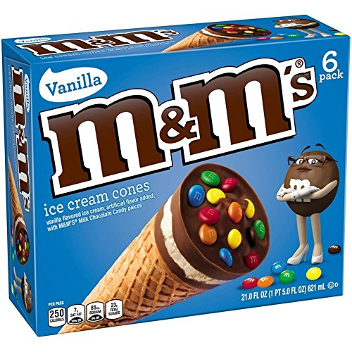 M&M'S Ice Cream Cone 6-Pack (6 Count)