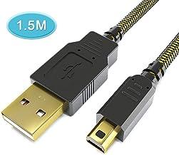 Pacote com 2 cabos de carregador USB 3DS 5FT 6amLifeastyle, carregador de energia para Nintendo New 3DS XL/New 3DS/3DS XL/...