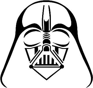 Trademark Unique Deals Darth Vader Window Sticker Vinyl Decal Car, White, Size N