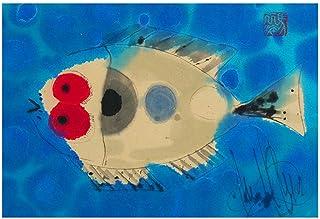 cuadro pez, impresión pez, impresión obra original, peces acuarela, pez color, tintas chinas, arte del mar, peces divertidos