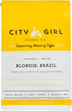 City Girl Coffee 'Blondie Brazil' Single Origin GROUND, Light Roast, 12 oz Resealable Bag, Sourced from Women-Owned Farms