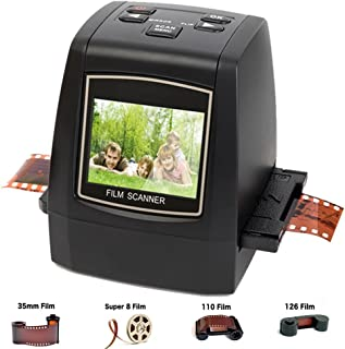 DIGITNOW! 22MP Film & Slide Scanner All-in-1, Super 8 Film,110/126 Film, 35mm Negative/Slide to Digital JPEG Converter Viewer