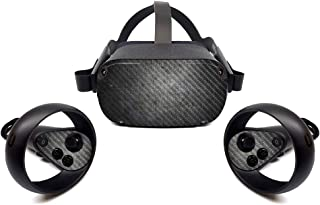 MightySkins Carbon Fiber Skin for Oculus Quest - Scratched Up   Protective, Durable Textured Carbon Fiber Finish   Easy to...