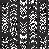 Dekostoff Canvas Ethno Pfeile – schwarz — Meterware ab