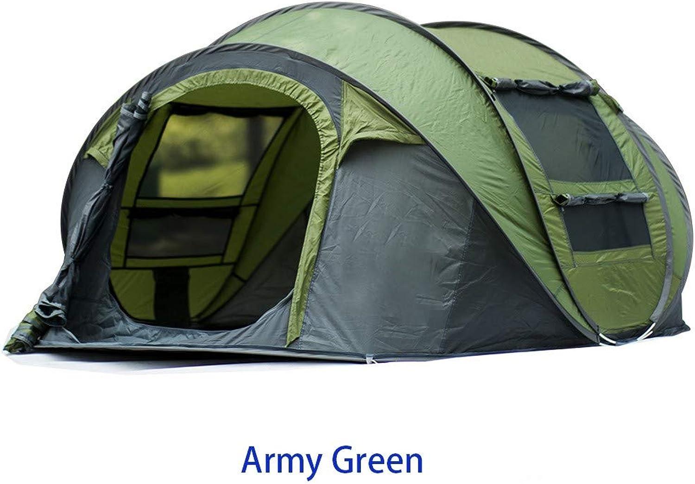 MOMAMO Peak Zelt, Outdoor Pop Up Kuppelzelt Wurfzelt 4 Personen Zelt Camping Festival 280 x 200x 120 cm (Wasserdicht WS 3000 mm)