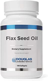 Douglas Laboratories - Flax Seed Oil - Provides Omega Fatty Acids for Immune Support - 100 Softgels