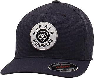قبعة ARIAT للرجال فليكس فيت جولة شيلد رقعة سوداء