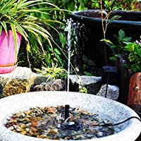 Decdeal Solar Powered Fountain Pump 6V/2W Solar Water Pump with Adjustable Solar Panel DIY Birdbath Fountain Pump…