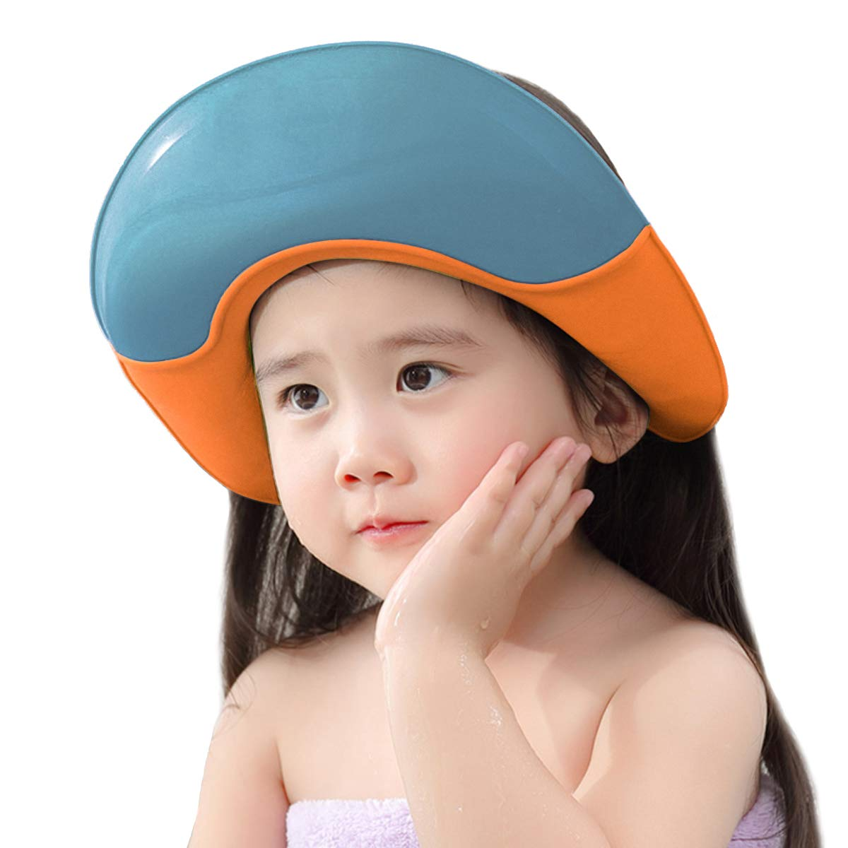 Baby Shampoo Cap Adjustment Silicone Bathing Hat Wash Hair Shield Hat Suitable for Babies, Toddlers, Children
