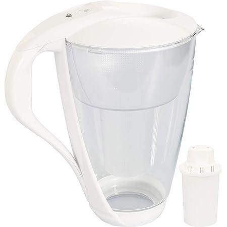 Carafe avec filtre à eau en verre Dafi Crystal Classic 2.0L + 1 Cartouche - Blanc