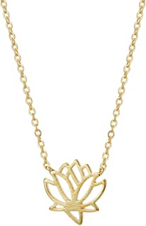 Cross Pendant Necklaces, 14K Gold Plated Lotus Awl Compass Cat Choker Necklaces Jewelry Gift for Women Girls