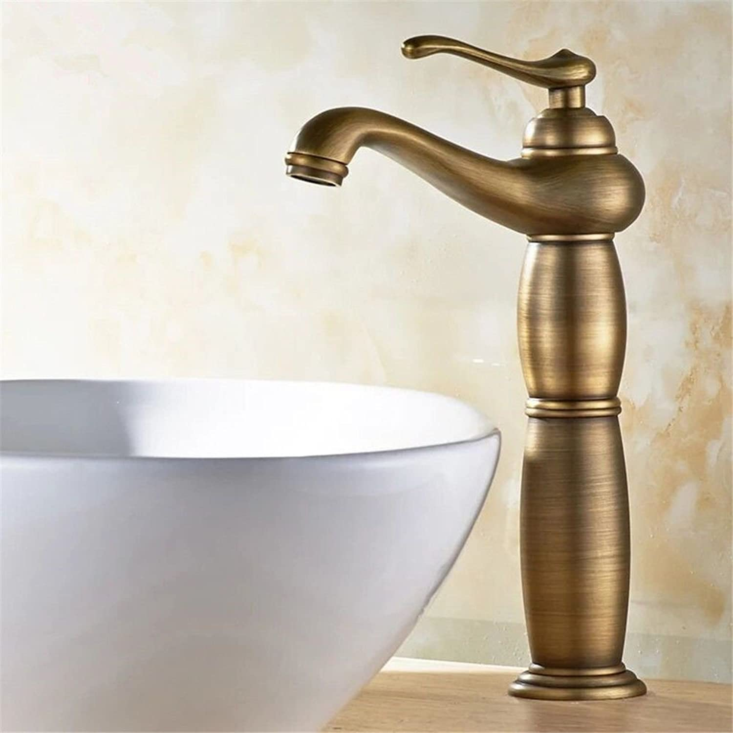 Hlluya Professional Sink Mixer Tap Kitchen Faucet Antique gold faucet basin faucet on hot and cold water basin mixer basin old water taps the C