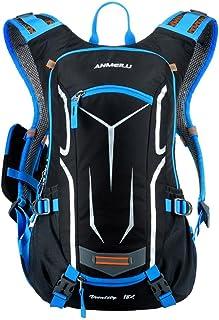 Mochila de Ciclismo Impermeable 18L Unisexo Respirable Ultraligero con Cubierta de Lluvia Mochila de Hombro para Ciclismo Montañismo Viajes
