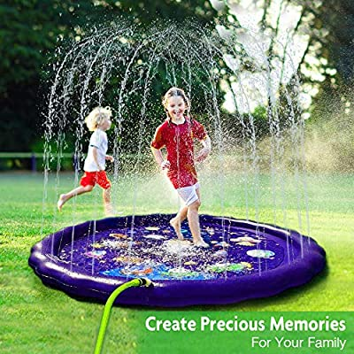 AUTOXEL Sprinkler for Kids, Toddler Splash Play Mat Outdoors Children's Sprinkler Pool Babies Inflatable Water Play Pad Spray Water Toys Kiddie Pool for Boys and Girls by AUTOXEL