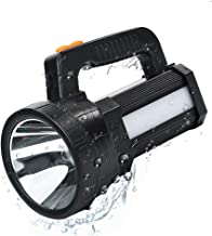 Linterna LED Recargable, Linterna LED Alta Potencia, 3 en 1 Súper Brillante 9600mAh, Impermeable IPX4, Correa y Cargador Incluido, Linterna Gran Alcance de 800m, Ideal para Camping, Ciclismo, Pesca