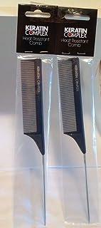 Keratin Complex Heat Resistant Metal Tail Comb - -