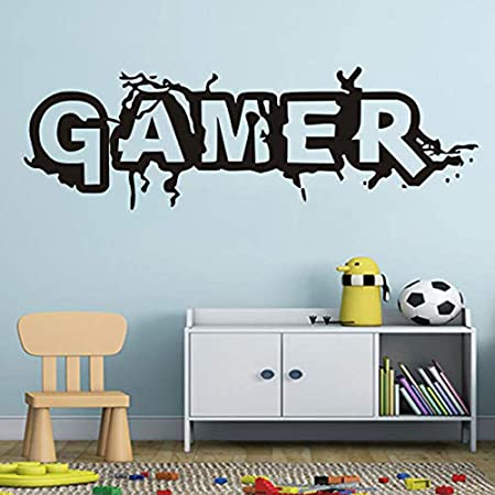 RED LETTERS wall stickers 40 decals Alphabet ABC girl room decor nursery teen