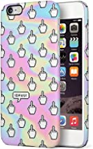 Maceste Middle Finger Emoji IDFWU I Don't Fuck with You Compatible with iPhone 6 Plus/iPhone 6S Plus SnapOn Hard Plastic Phone Protective Carcasa Cubierta Case Cover
