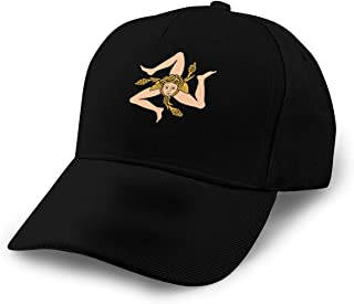 Sicilian Flag Logo Camp Hat,Snap Back Ball Cap,Breathable,Adjustable Stitching Baseball Caps