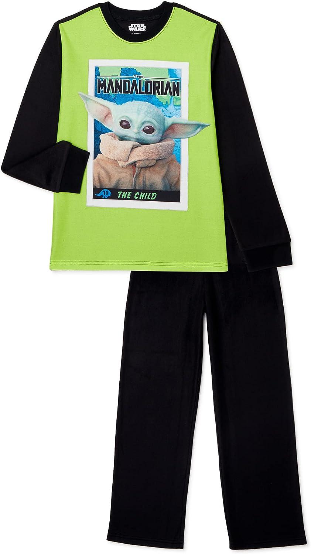 Disney Big Boys' Star Wars Yoda 2 Piece Pajama Set (8) Multi